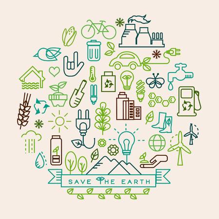 Ecology icons Imagens - 35560447
