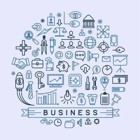 emprendimiento: Vector iconos de negocios  Vectores