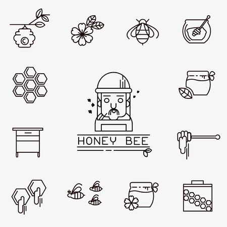 꿀 벡터 아이콘