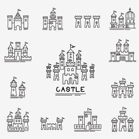 Castle Vector icon Illustration