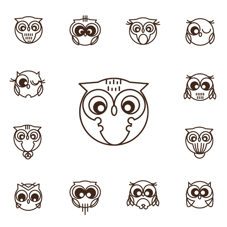 white playful: Owls vector