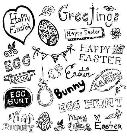 cartoon easter basket: Doodle Easter.