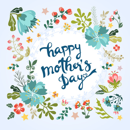 Happy Mother's Day floral greeting Stock fotó - 46153071
