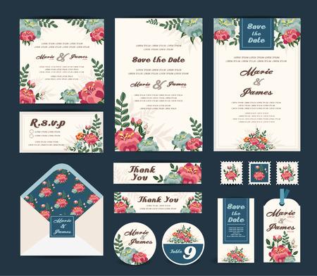 cérémonie mariage: Invitation vecteur de mariage