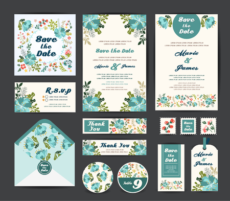 greeting card: Wedding invitation vector