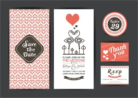 Wedding template collection.Wedding invitation