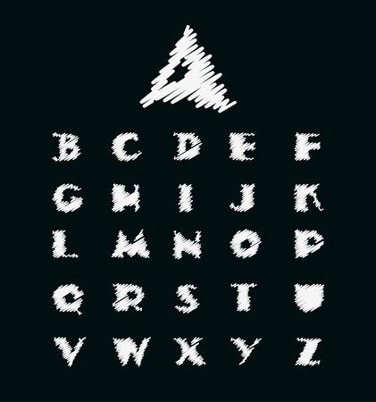 알파벳 벡터 일러스트 레이 션. 알파벳 글꼴