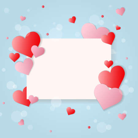valentineday: valentineday card with hearts on abstract background