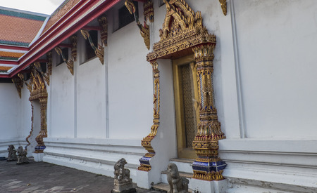restrict: Wat Pho Temple Bangkok Thailand They are public domain or treasure of buddhism no restrict in copy or use
