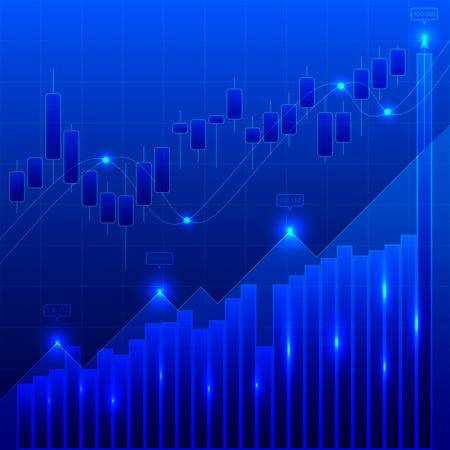 This is a graph trading foreign currencies Vektoros illusztráció