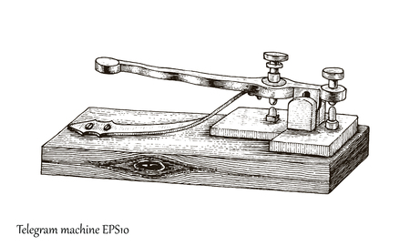 手描きのビンテージ スタイルを電信します。  イラスト・ベクター素材