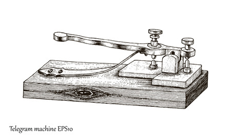 Telegraph hand drawing vintage style