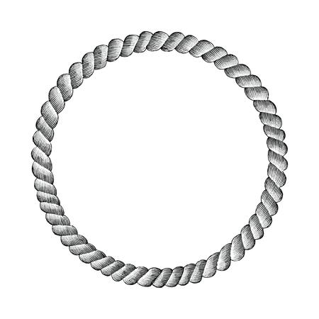 Rope circle hand drawing clip art