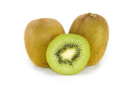 kiwi fruit isolated on a white background Stock Photo