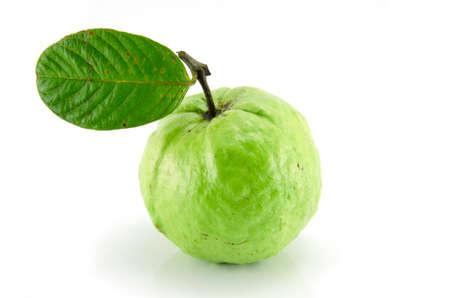 Guavas on white background Stock Photo