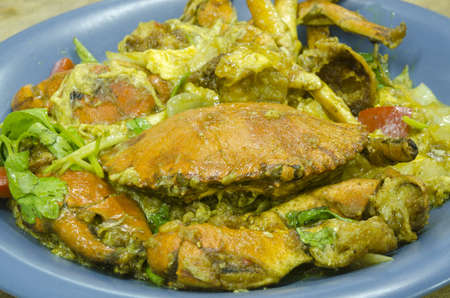 fried crab in curry sauce