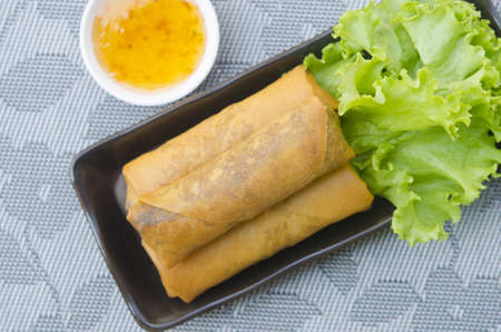 Fried Chinese Traditional Spring rolls food Stock Photo - 18134513