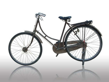 The old classic bicycle Stock Photo