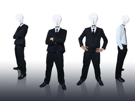 Business team light bulb head