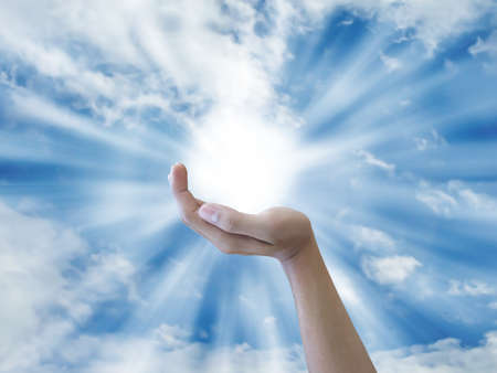 Hand houden e zon
