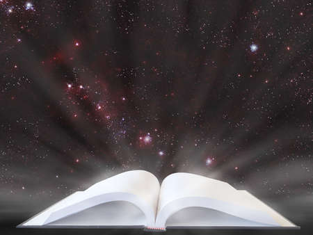 book of universe Stock Photo