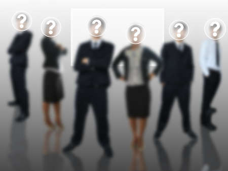 Question of business team Stock Photo