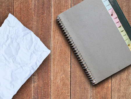 crumple: Crumple paper and note book