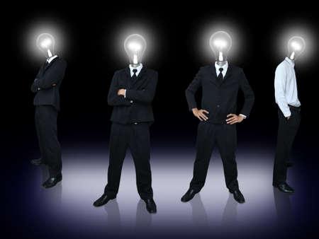 Light bulb head team