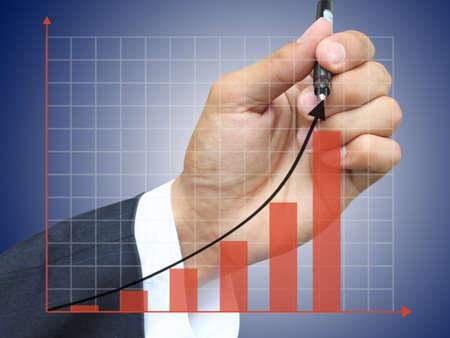 Hand write growth graph