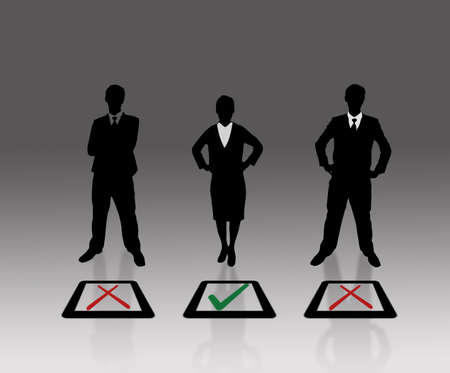 selection box: Business people choice