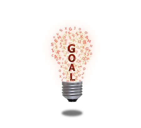 Light bulb of goal