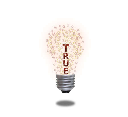 Light bulb of true photo