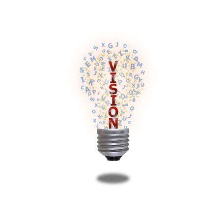 Light bulb of vision photo