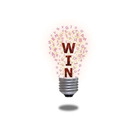 Light bulb of win photo