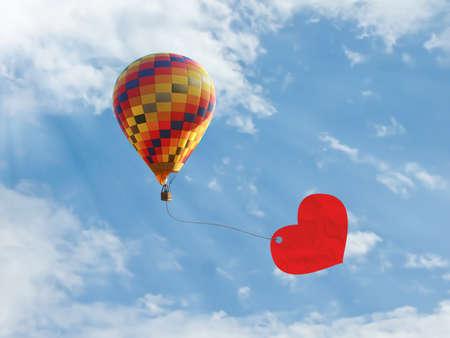 Balloon of love Reklamní fotografie - 12388382