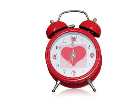 Clock of love Stock Photo