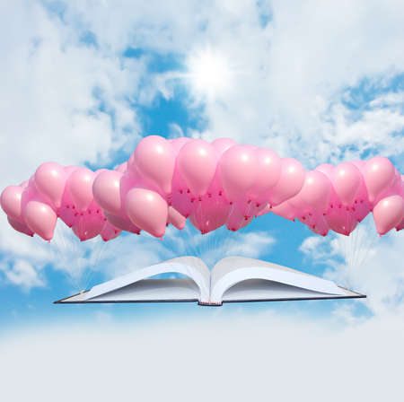 Flying book Stock Photo - 12685612