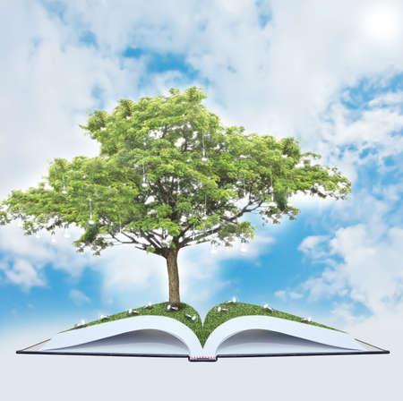 creative strength: Tree of wisdom Stock Photo