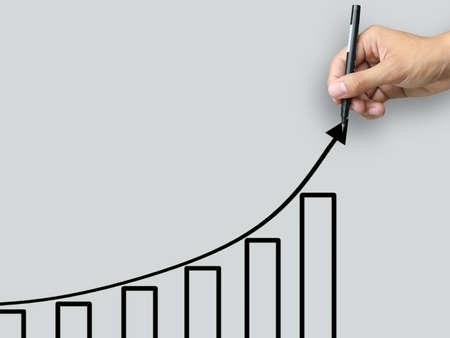 Hand write growth chart Stock Photo - 12685585