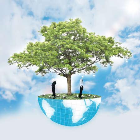 Man and tree of wisdom Stock Photo - 12685629