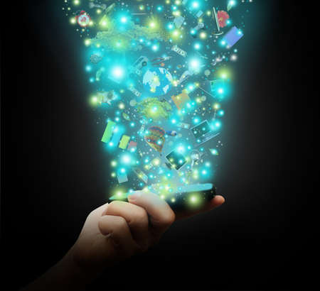 волшебный: Магия телефона Фото со стока
