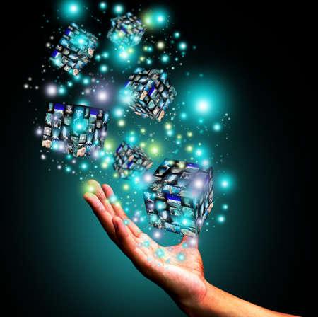 interfaces: Hand holding virtual box