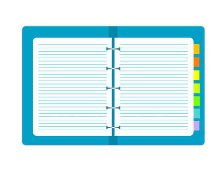 illustration of paper in folder