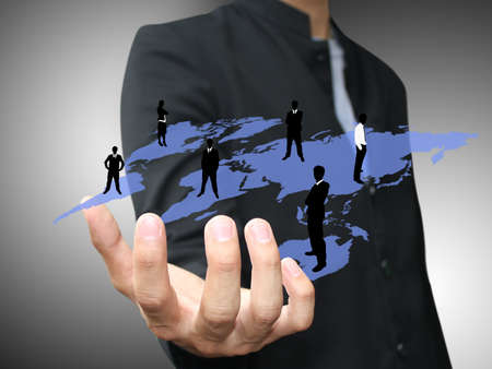 Hand holding social map Stock Photo - 15150162