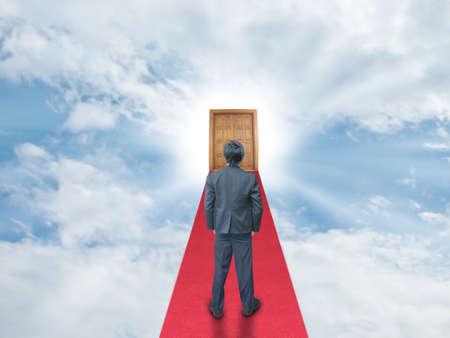 Businessman on success way