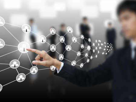 Man connect social network
