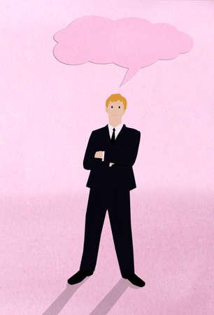 Businessman think Reklamní fotografie