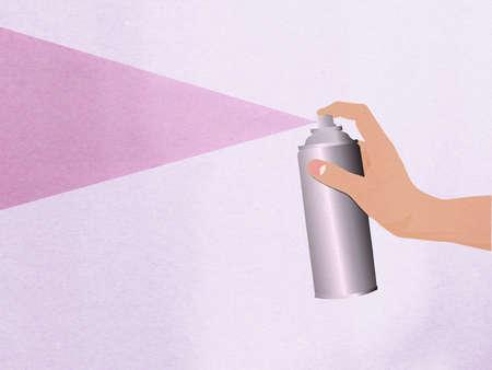 analog�a: Mano aerosol