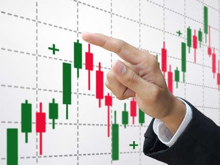 Trading stock Stock Photo