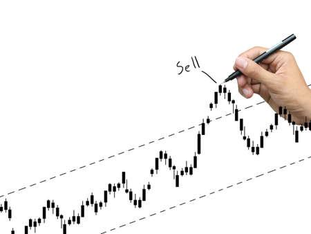 hand write stock graph